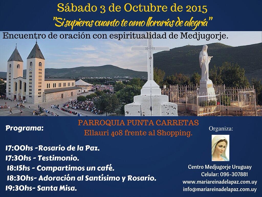 Encuentro con espiritualidad de Medjugorje en la Pquia de Punta Carretas