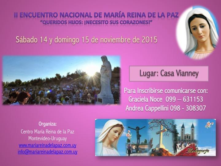 II Encuentro Nacional de Maria Reina de la Paz en Uruguay